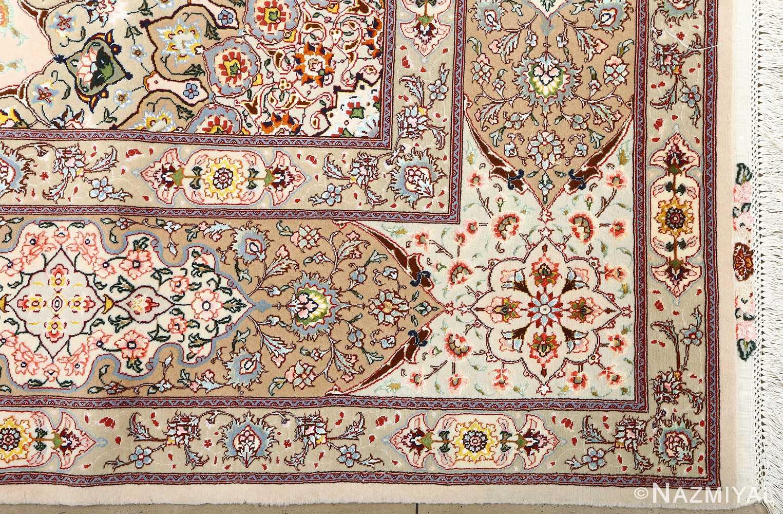 square shahsavarpour design vintage tabriz persian rug 51076 corner Nazmiyal