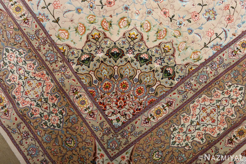 square shahsavarpour design vintage tabriz persian rug 51076 design Nazmiyal