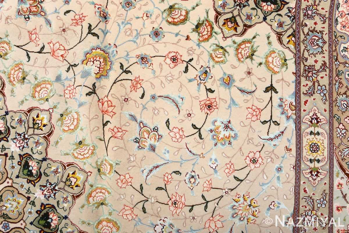 square shahsavarpour design vintage tabriz persian rug 51076 field Nazmiyal