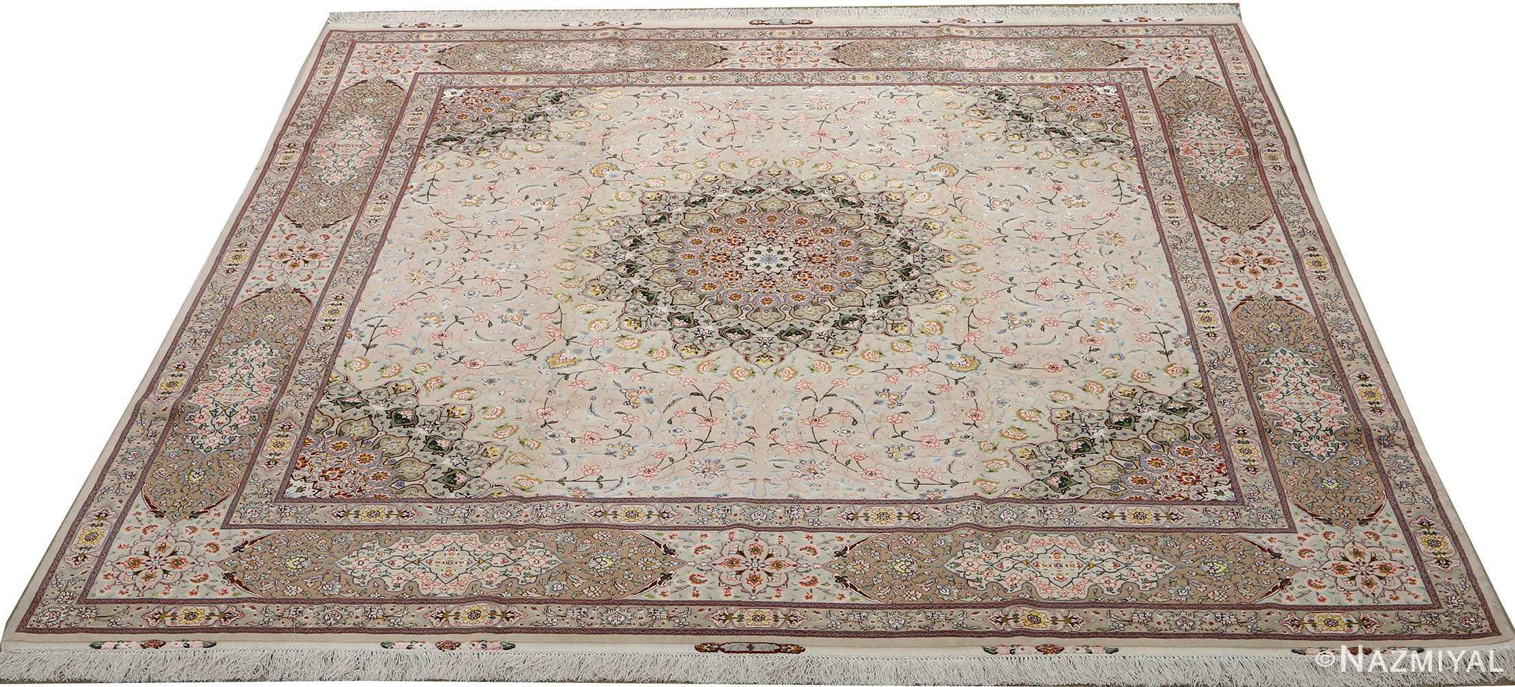 square shahsavarpour design vintage tabriz persian rug 51076 full Nazmiyal