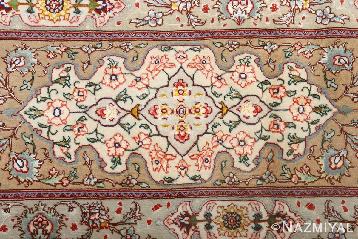 square shahsavarpour design vintage tabriz persian rug 51076 green Nazmiyal