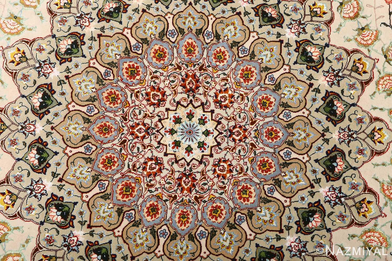 square shahsavarpour design vintage tabriz persian rug 51076 medallion Nazmiyal