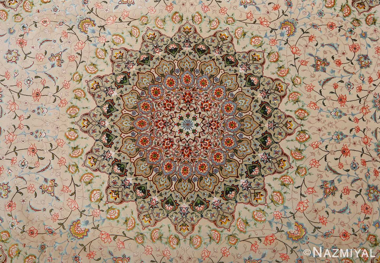 square shahsavarpour design vintage tabriz persian rug 51076 middle Nazmiyal