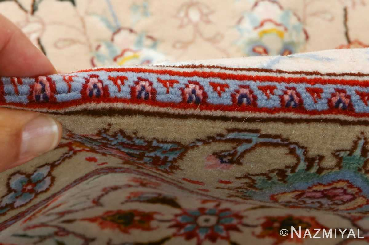 square shahsavarpour design vintage tabriz persian rug 51076 pile Nazmiyal