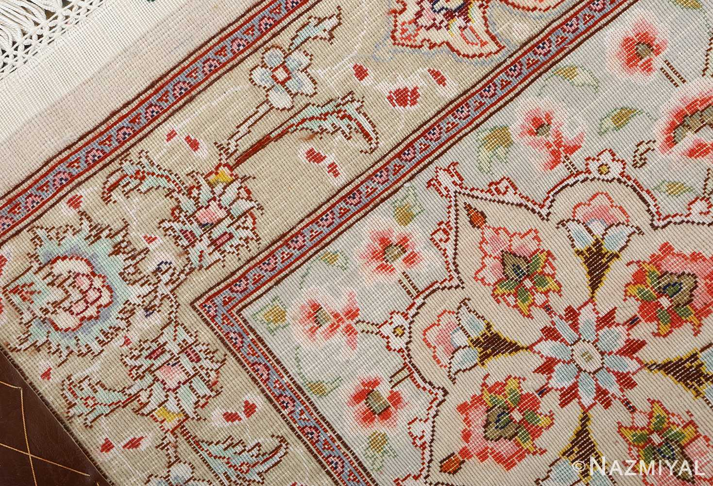 square shahsavarpour design vintage tabriz persian rug 51076 weave Nazmiyal