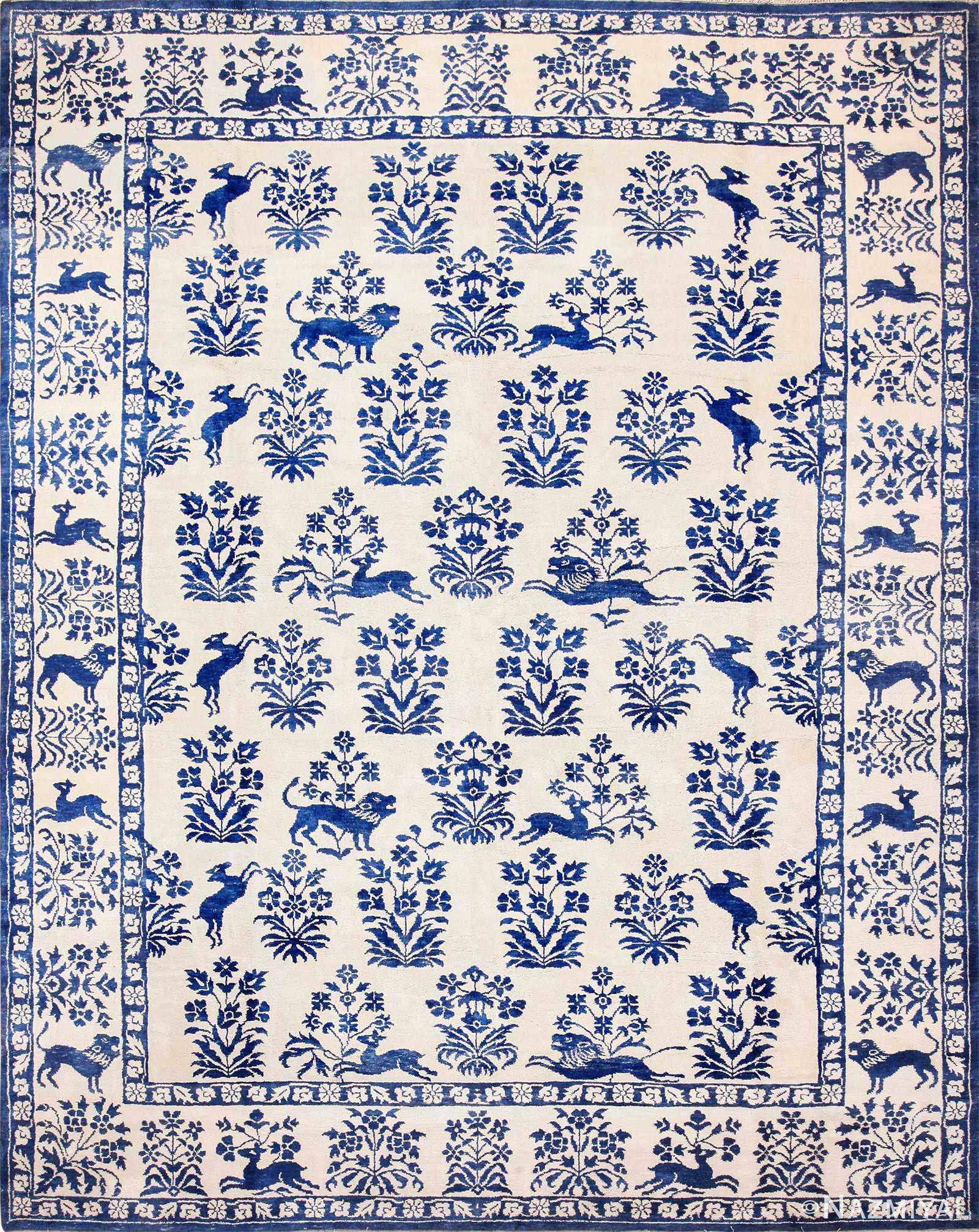 vintage animal motif indian cotton rug 49257 Nazmiyal