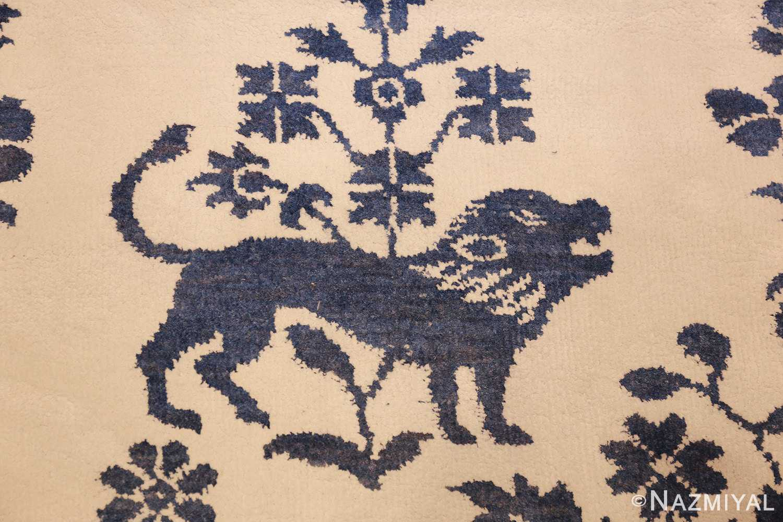 vintage animal motif indian rug 49257 boar Nazmiyal