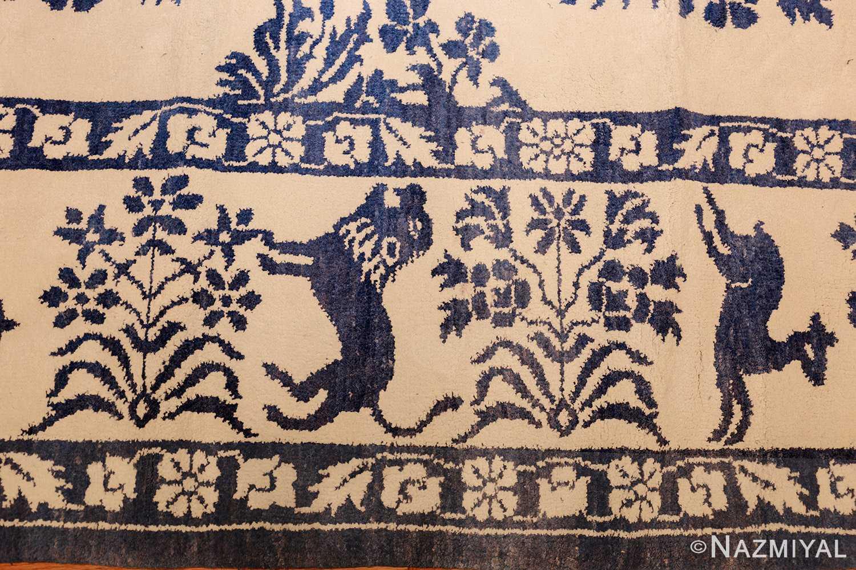 vintage animal motif indian rug 49257 border Nazmiyal