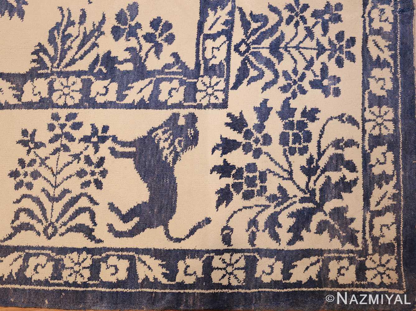 vintage animal motif indian rug 49257 corner Nazmiyal