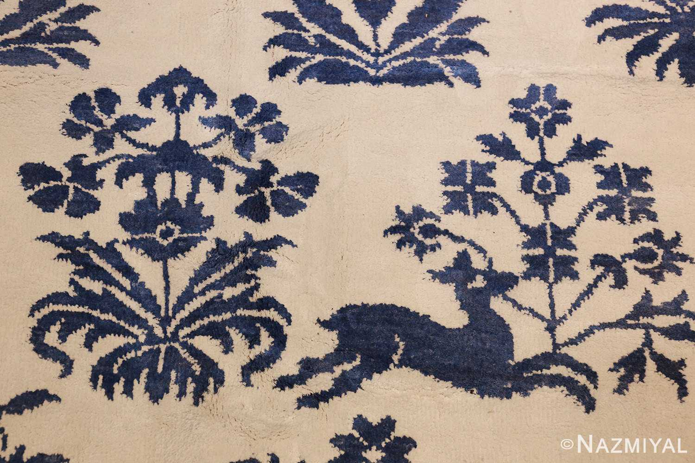 vintage animal motif indian rug 49257 deer Nazmiyal