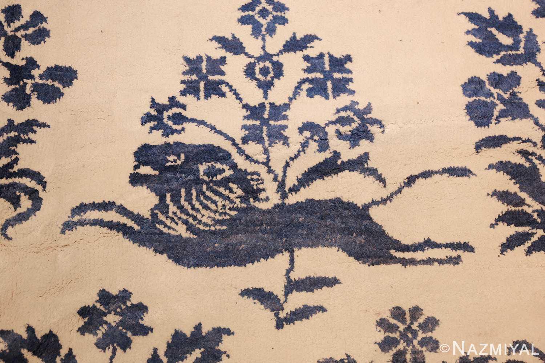 vintage animal motif indian rug 49257 lion Nazmiyal