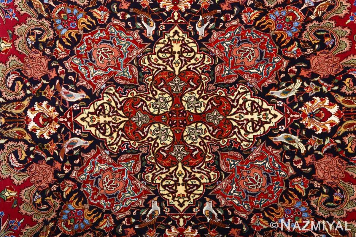 vintage animal motif tabriz persian rug 51087 birds Nazmiyal