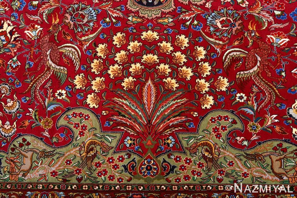 vintage animal motif tabriz persian rug 51087 buteh Nazmiyal