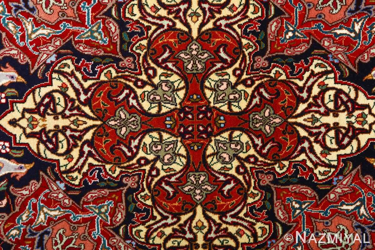 vintage animal motif tabriz persian rug 51087 center Nazmiyal