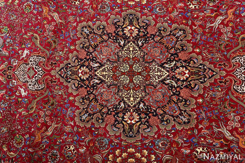 vintage animal motif tabriz persian rug 51087 medallion Nazmiyal