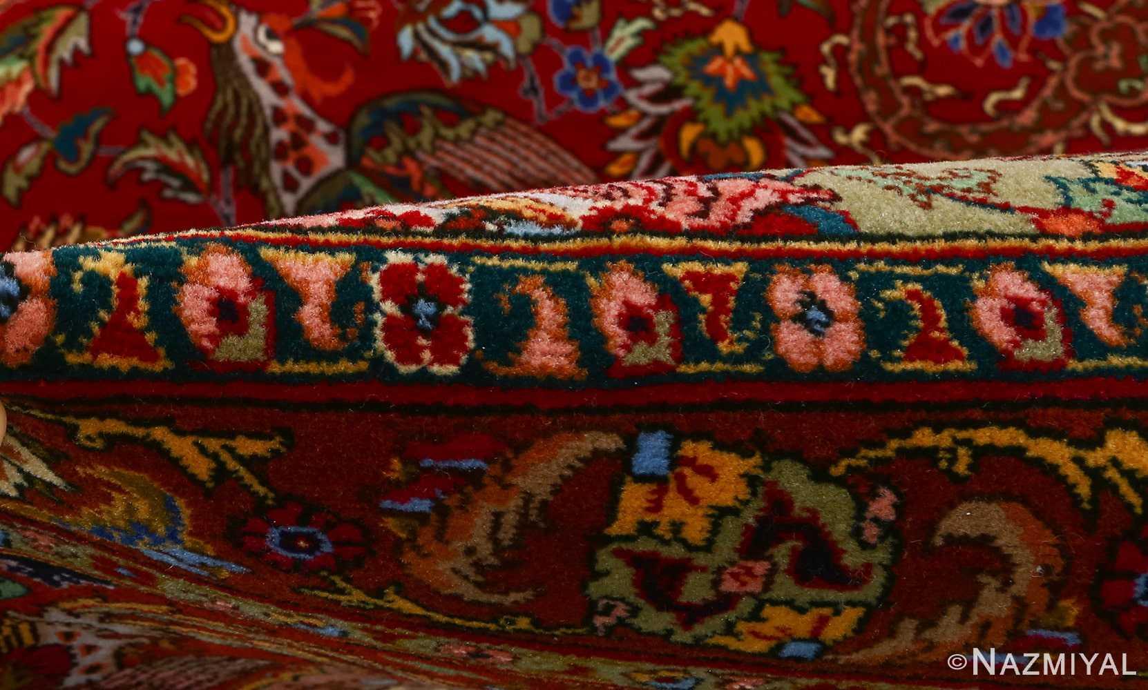 vintage animal motif tabriz persian rug 51087 pile Nazmiyal