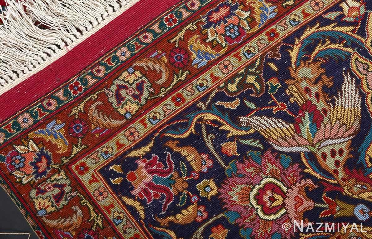 vintage animal motif tabriz persian rug 51087 weave Nazmiyal