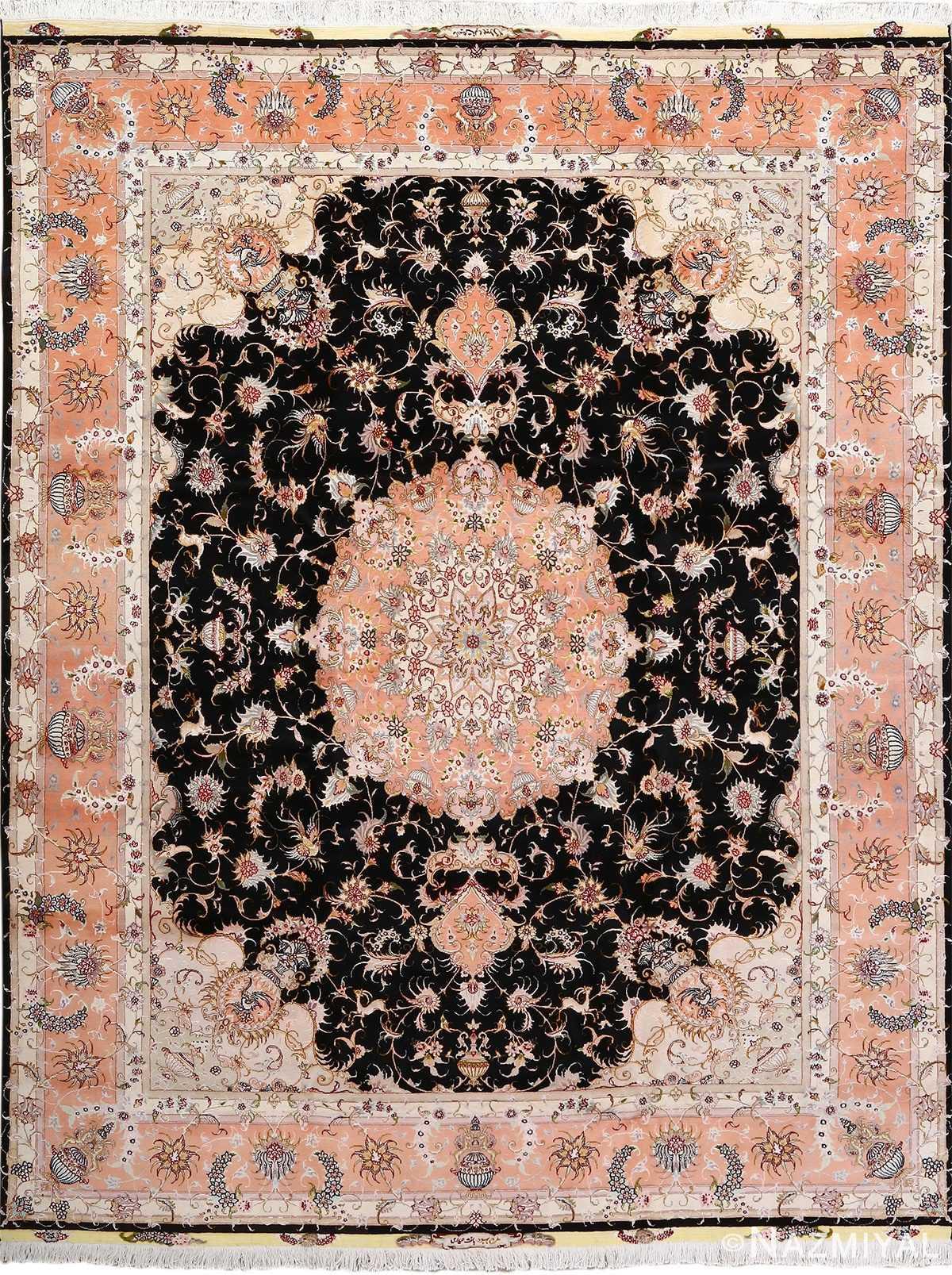 vintage animal motif tabriz persian rug 51102 Nazmiyal