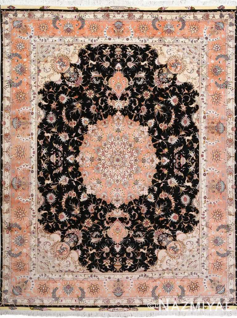 vintage animal motif tabriz persian rug 51102 Nazmiyal