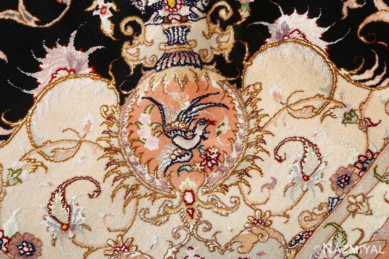 vintage animal motif tabriz persian rug 51102 birds Nazmiyal