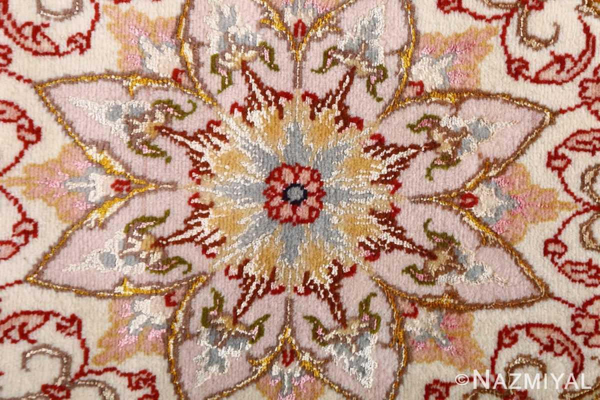 vintage animal motif tabriz persian rug 51102 center Nazmiyal