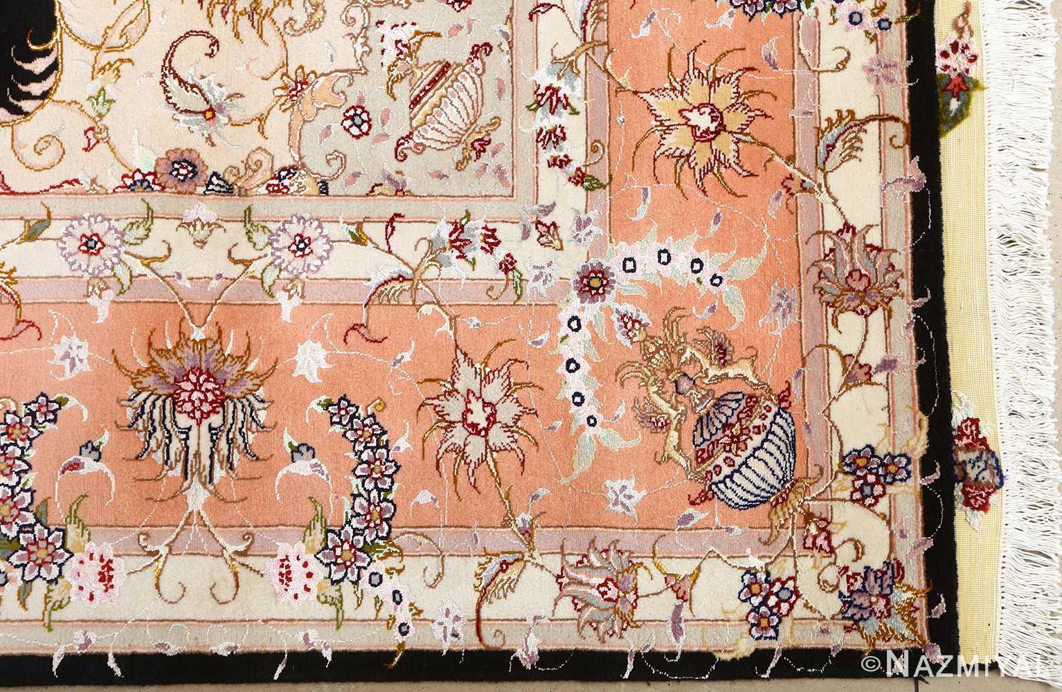 vintage animal motif tabriz persian rug 51102 corner Nazmiyal