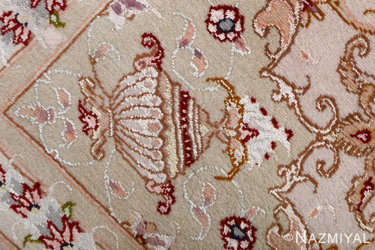 vintage animal motif tabriz persian rug 51102 cup Nazmiyal