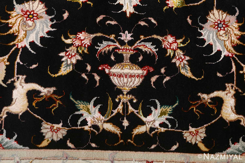 vintage animal motif tabriz persian rug 51102 deers Nazmiyal