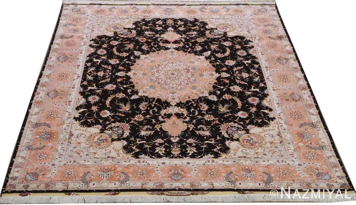vintage animal motif tabriz persian rug 51102 full Nazmiyal