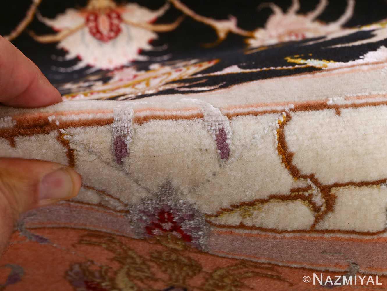 vintage animal motif tabriz persian rug 51102 pile Nazmiyal