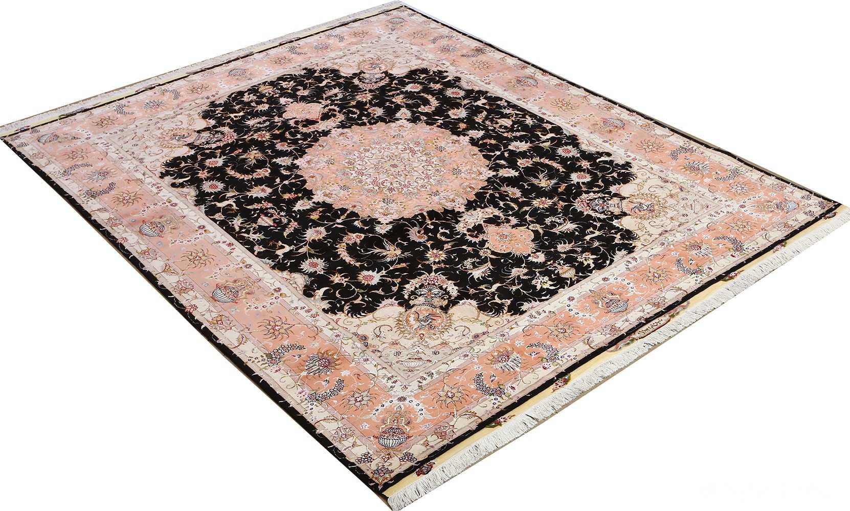 vintage animal motif tabriz persian rug 51102 side Nazmiyal