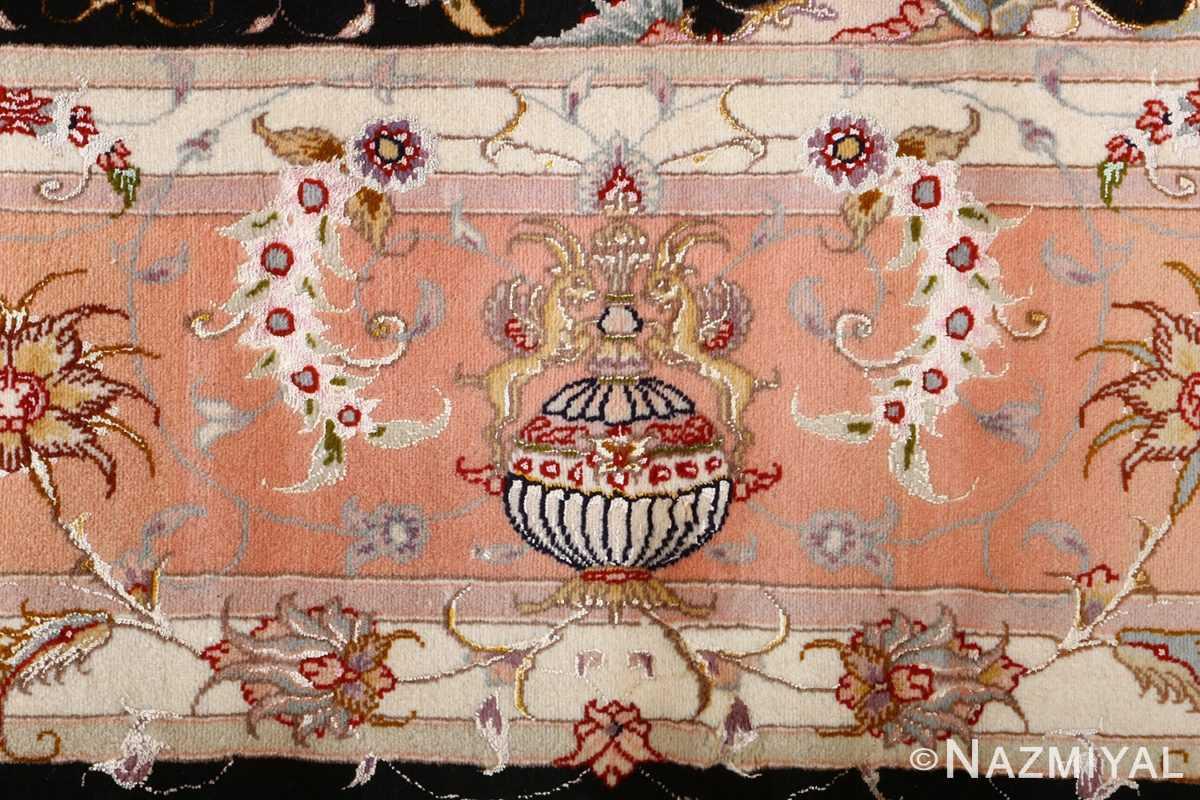 vintage animal motif tabriz persian rug 51102 vase Nazmiyal