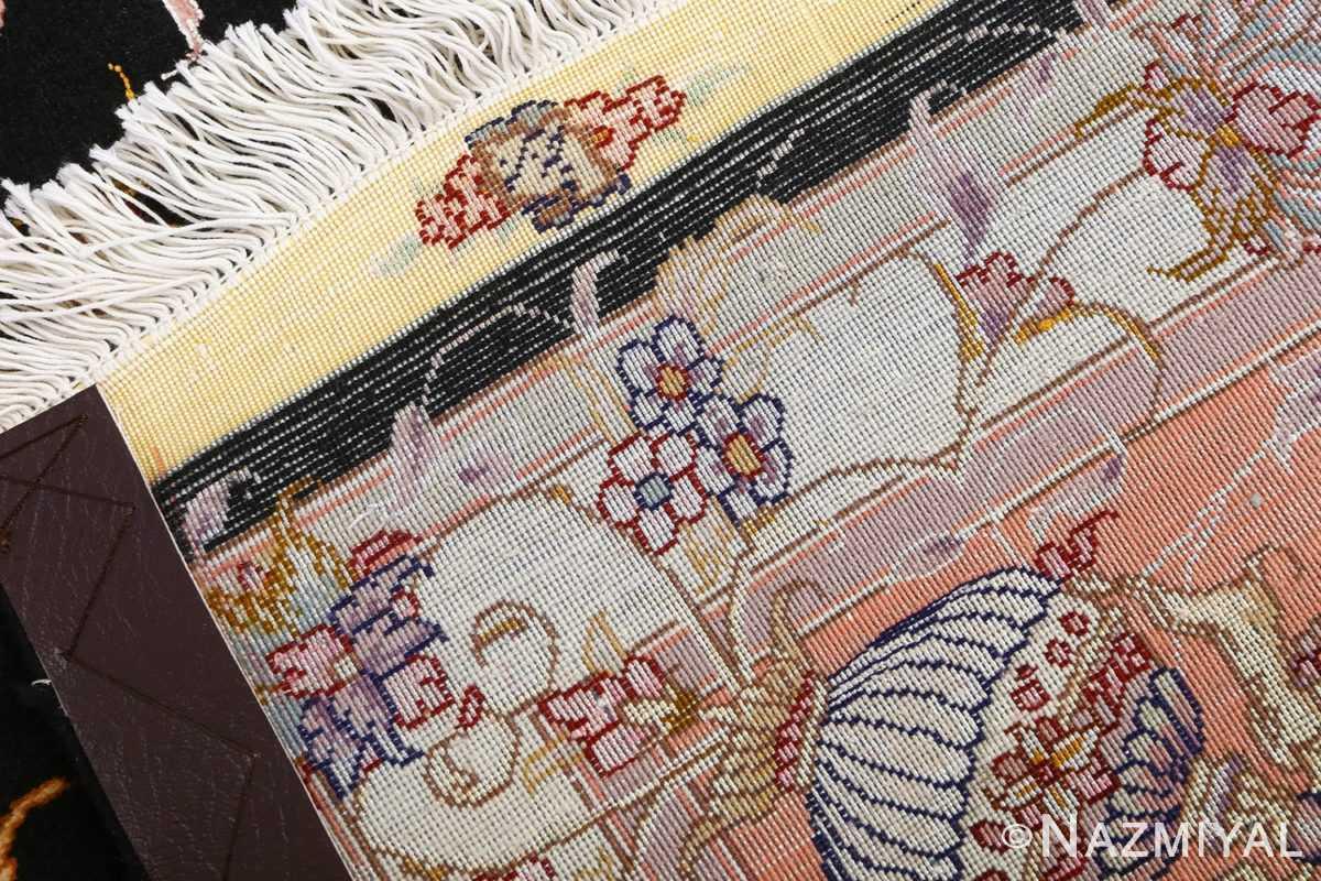 vintage animal motif tabriz persian rug 51102 weave Nazmiyal