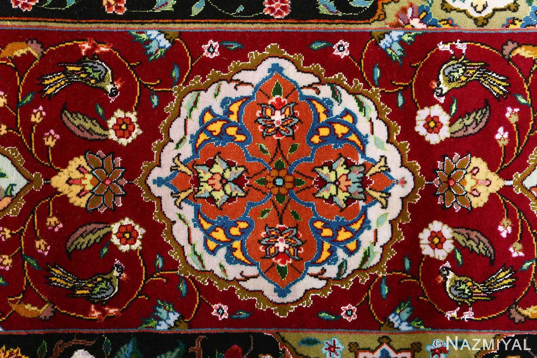 vintage animal motif tabriz persian rug 51107 birds Nazmiyal