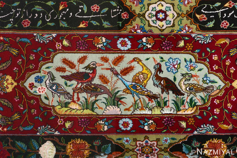 vintage animal motif tabriz persian rug 51107 crain Nazmiyal