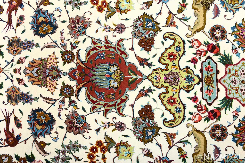 vintage animal motif tabriz persian rug 51107 pattern Nazmiyal