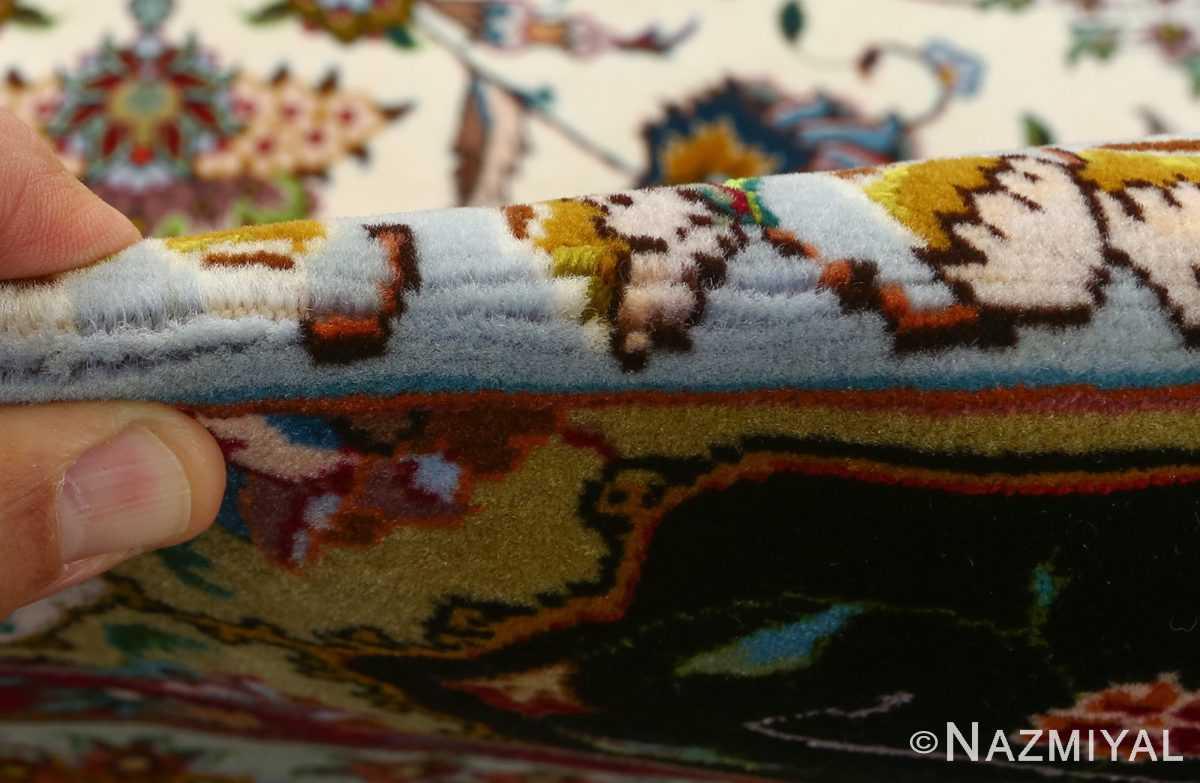 vintage animal motif tabriz persian rug 51107 pile Nazmiyal