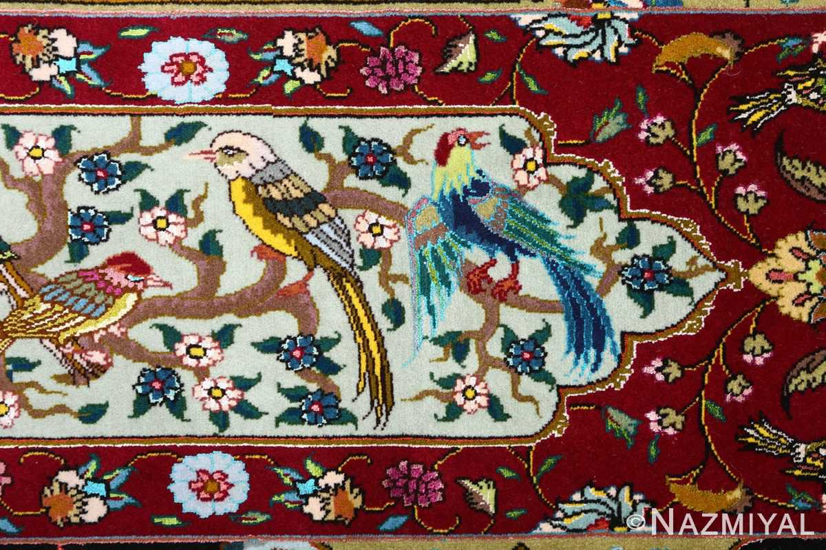 vintage animal motif tabriz persian rug 51107 woodpecker Nazmiyal