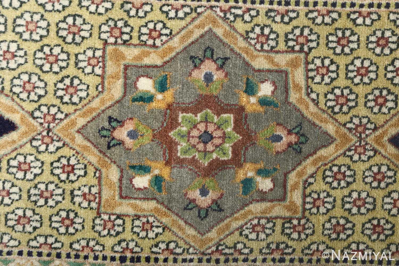 vintage geometric tabriz persian rug 51113 border Nazmiyal
