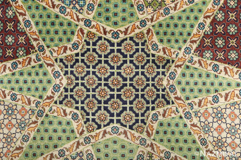 vintage geometric tabriz persian rug 51113 dark Nazmiyal