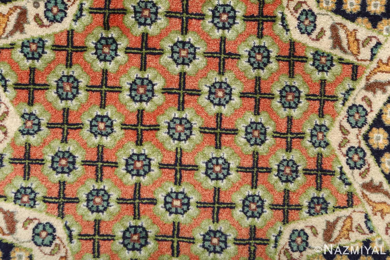 vintage geometric tabriz persian rug 51113 greenflowers Nazmiyal