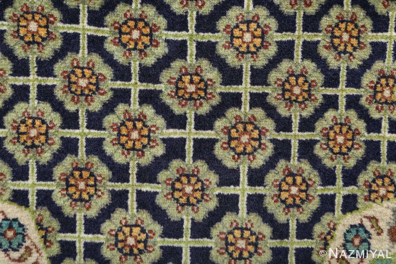 vintage geometric tabriz persian rug 51113 navy Nazmiyal