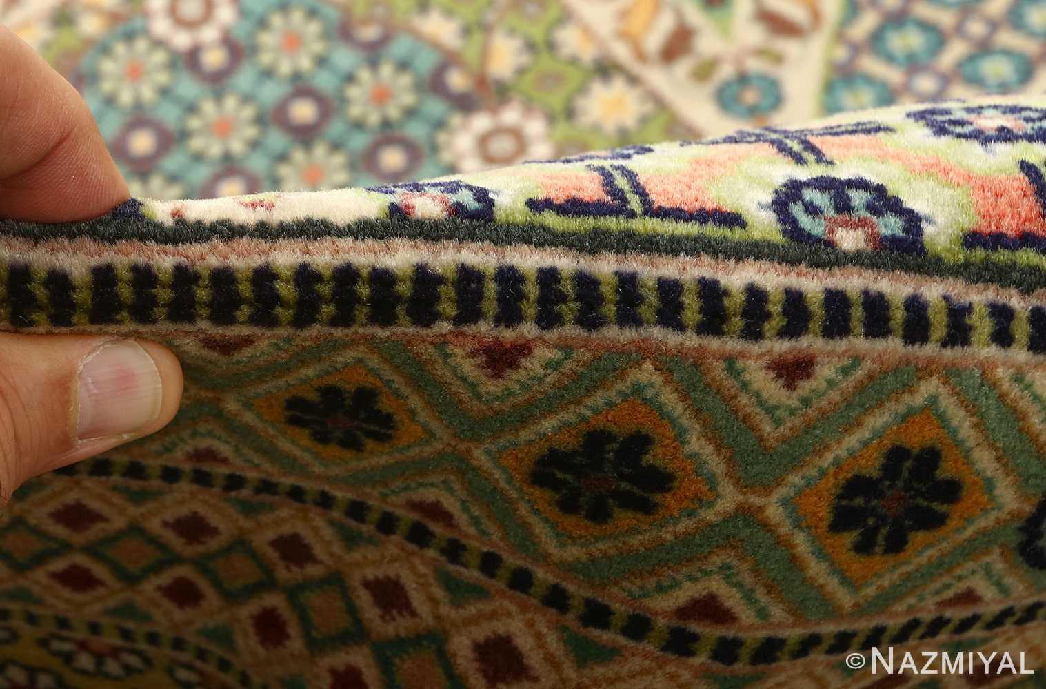 vintage geometric tabriz persian rug 51113 pile Nazmiyal