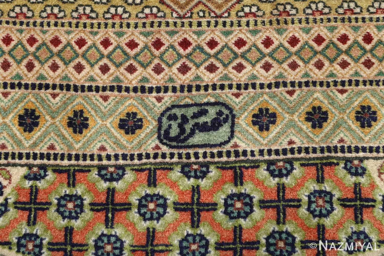vintage geometric tabriz persian rug 51113 signature Nazmiyal