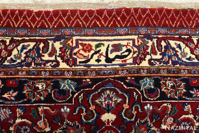 vintage gonbad design khorassan persian rug 51053 signature Nazmiyal