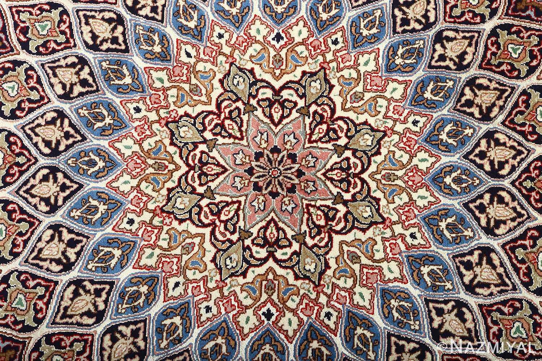 vintage gonbad design tabriz persian rug 51083 center Nazmiyal
