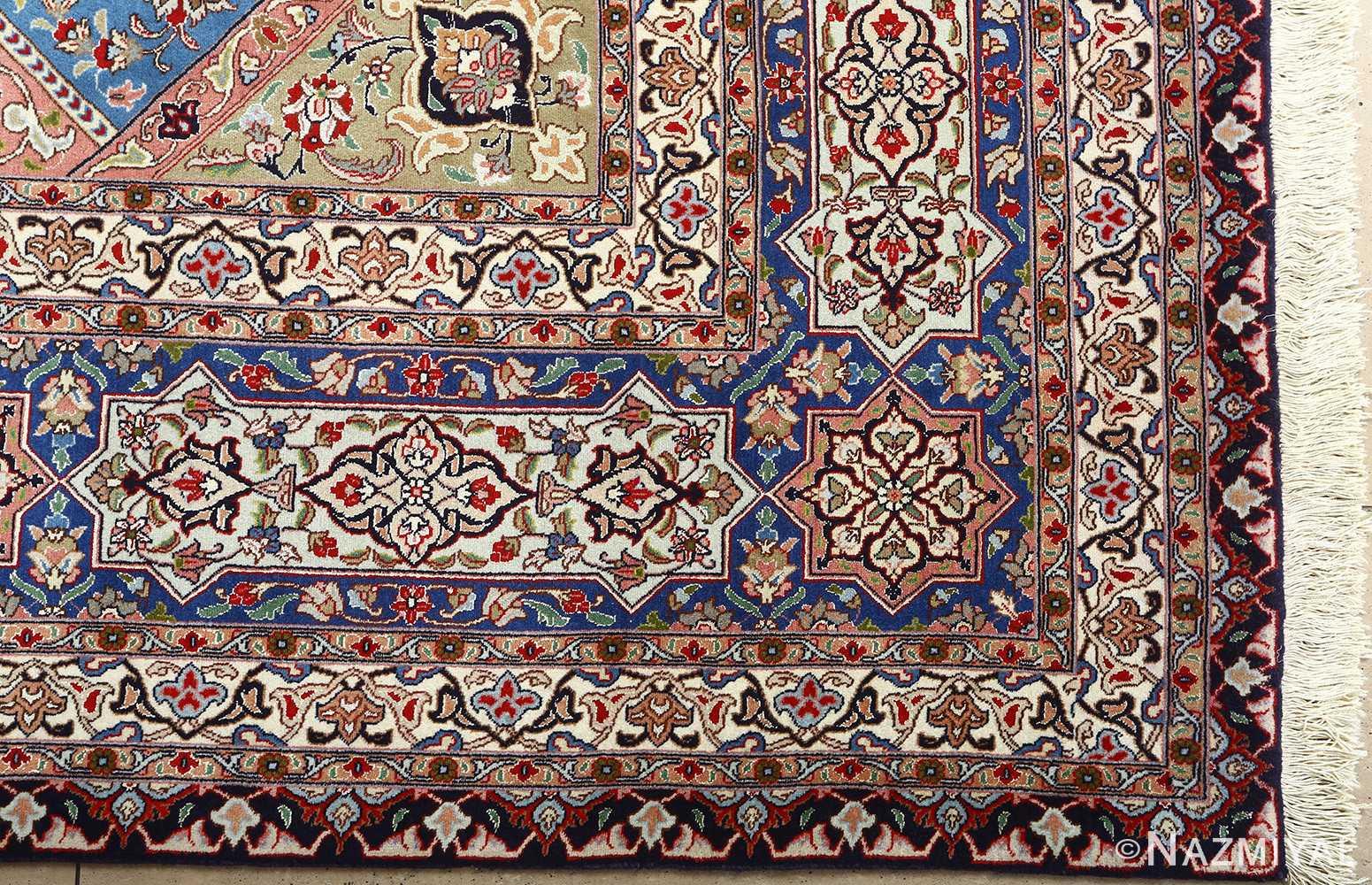 vintage gonbad design tabriz persian rug 51083 corner Nazmiyal