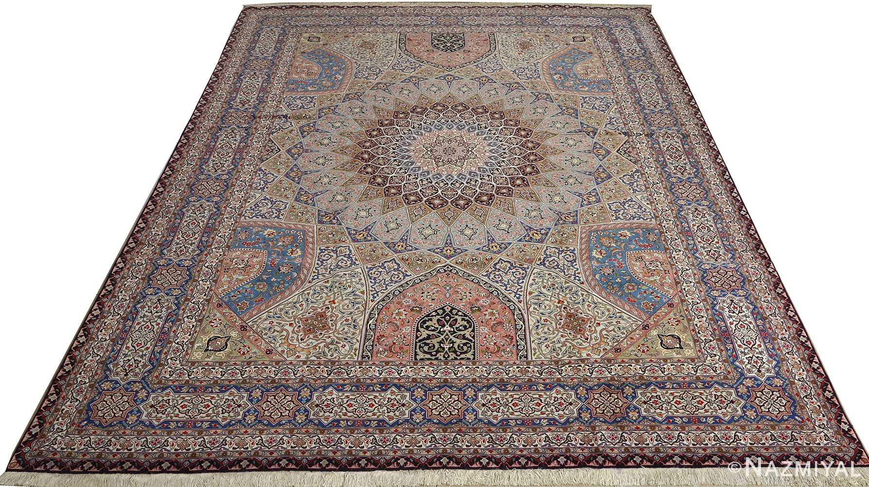 vintage gonbad design tabriz persian rug 51083 full Nazmiyal