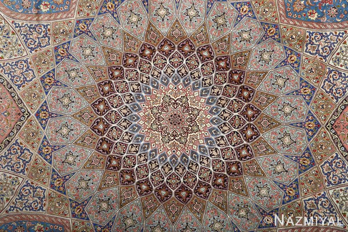 vintage gonbad design tabriz persian rug 51083 medallion Nazmiyal
