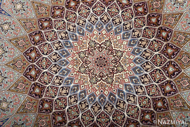 vintage gonbad design tabriz persian rug 51083 middle Nazmiyal